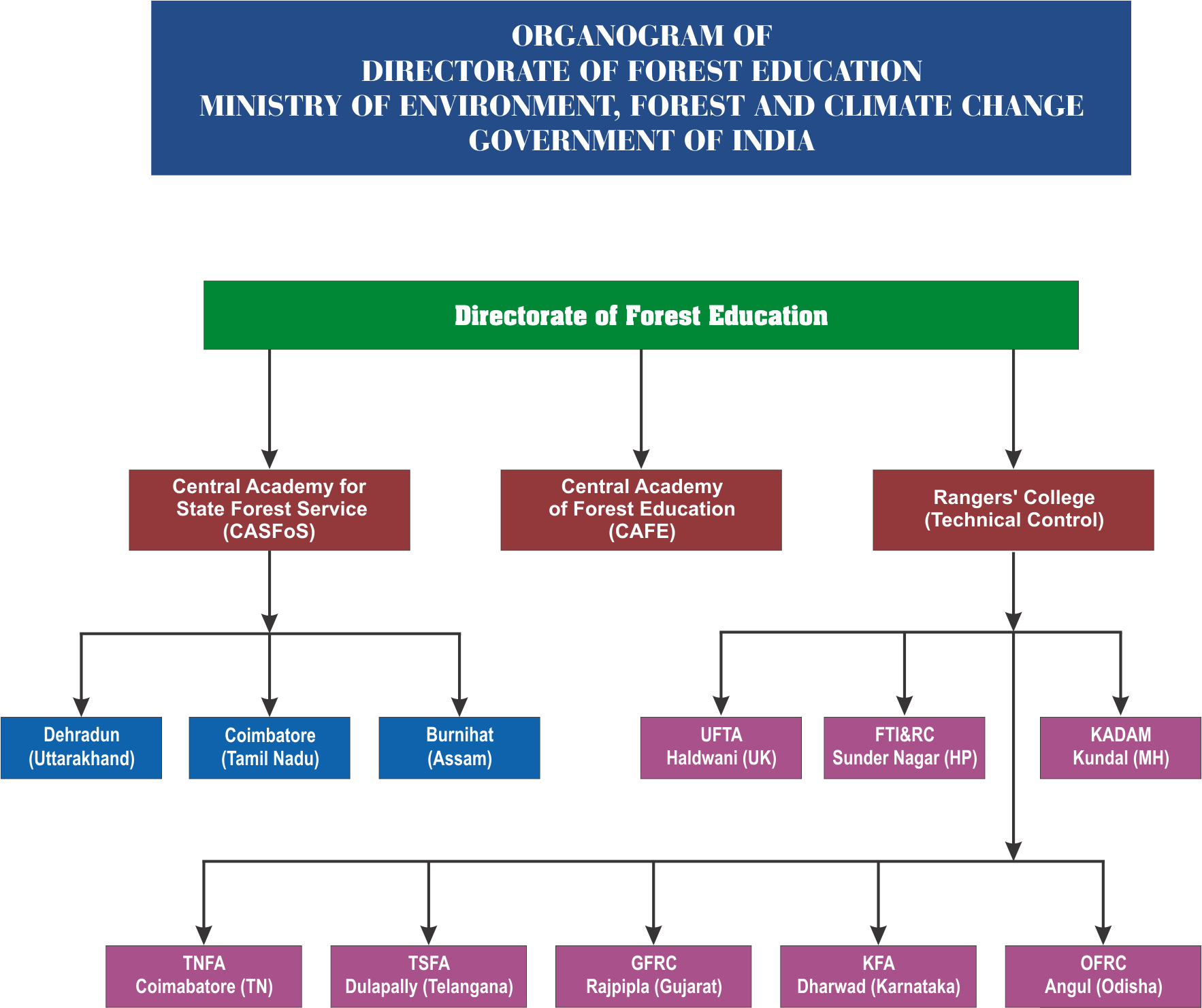 Organisation Chart | Welcome to Directorate of Forest